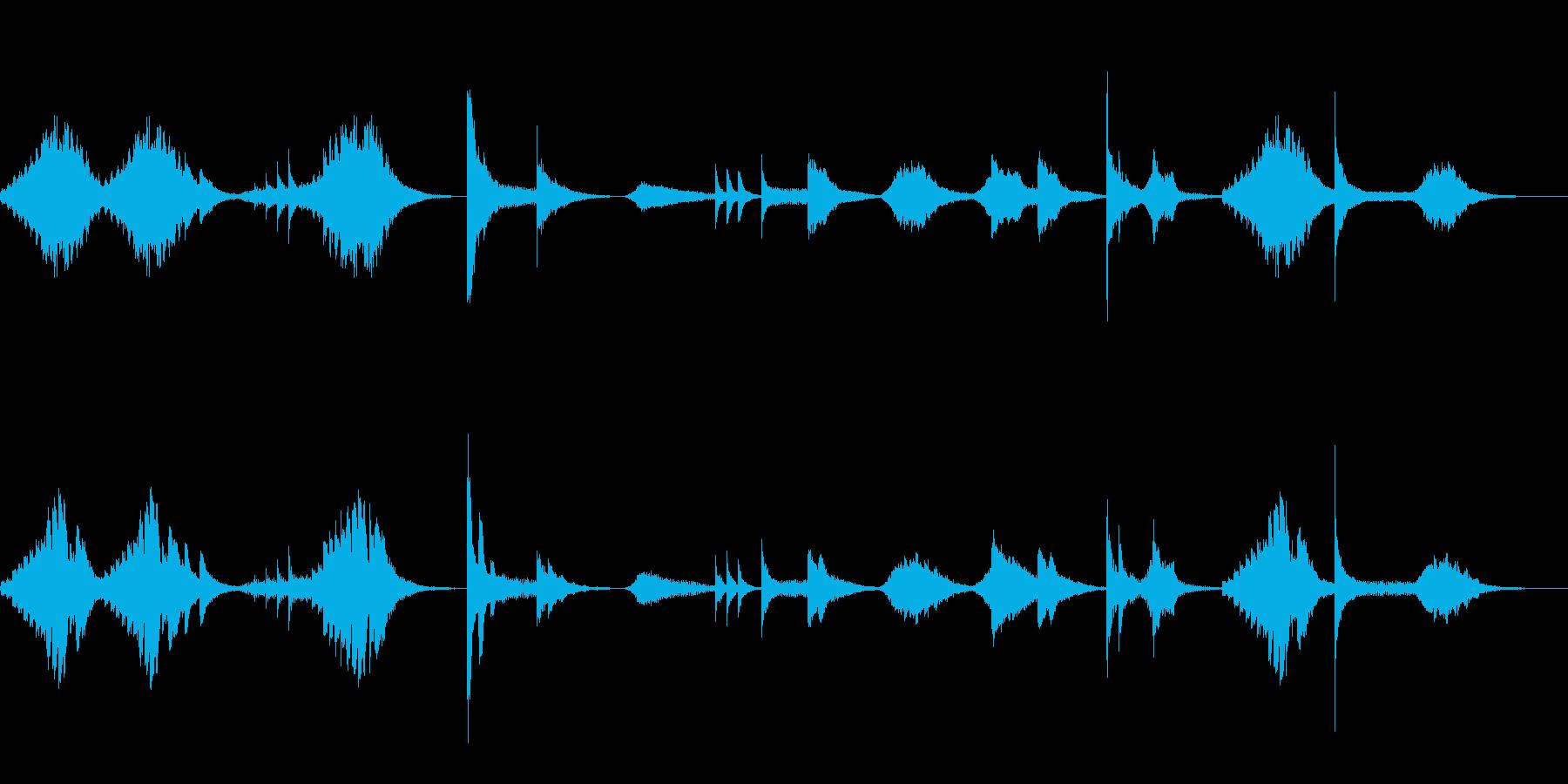 肝試し的恐怖音ひゅ〜ドロドロの再生済みの波形