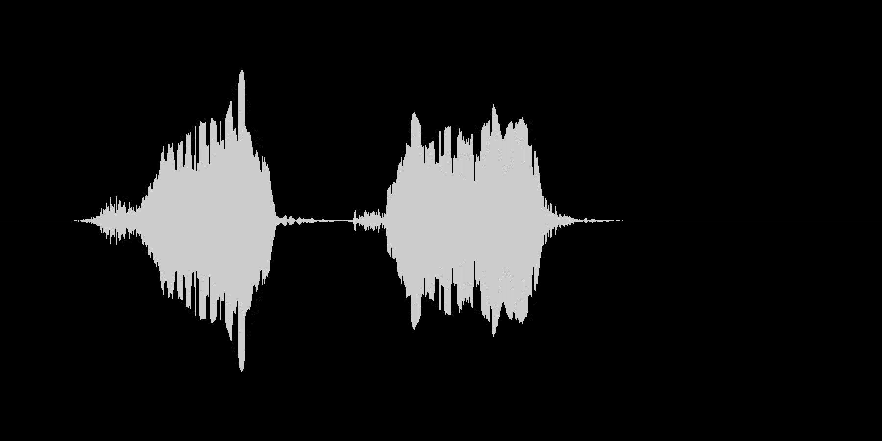 チュウチュウの未再生の波形