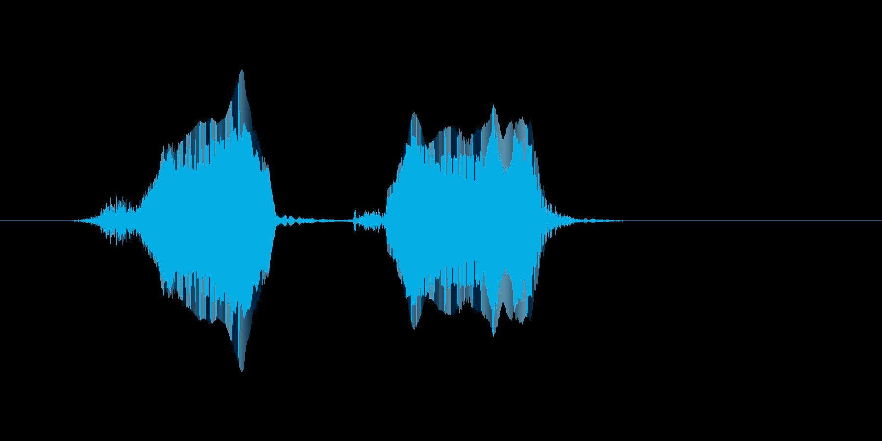 チュウチュウの再生済みの波形