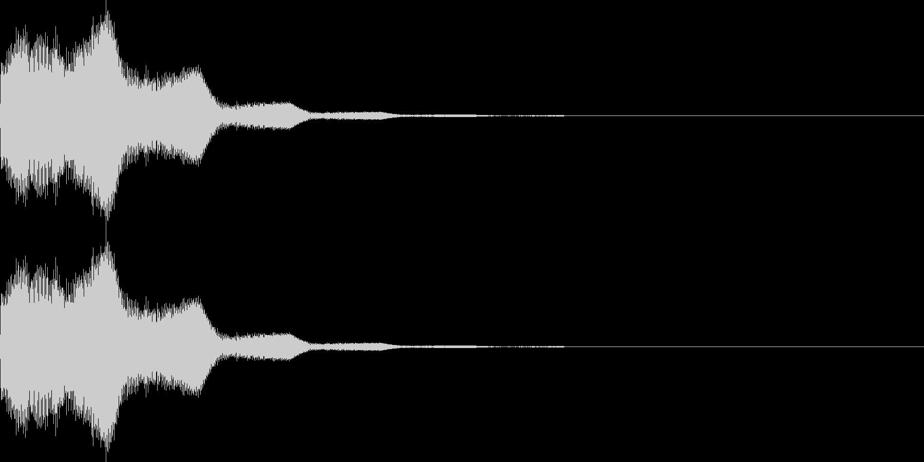 キラン(星、ボタン、決定、ボタン)の未再生の波形