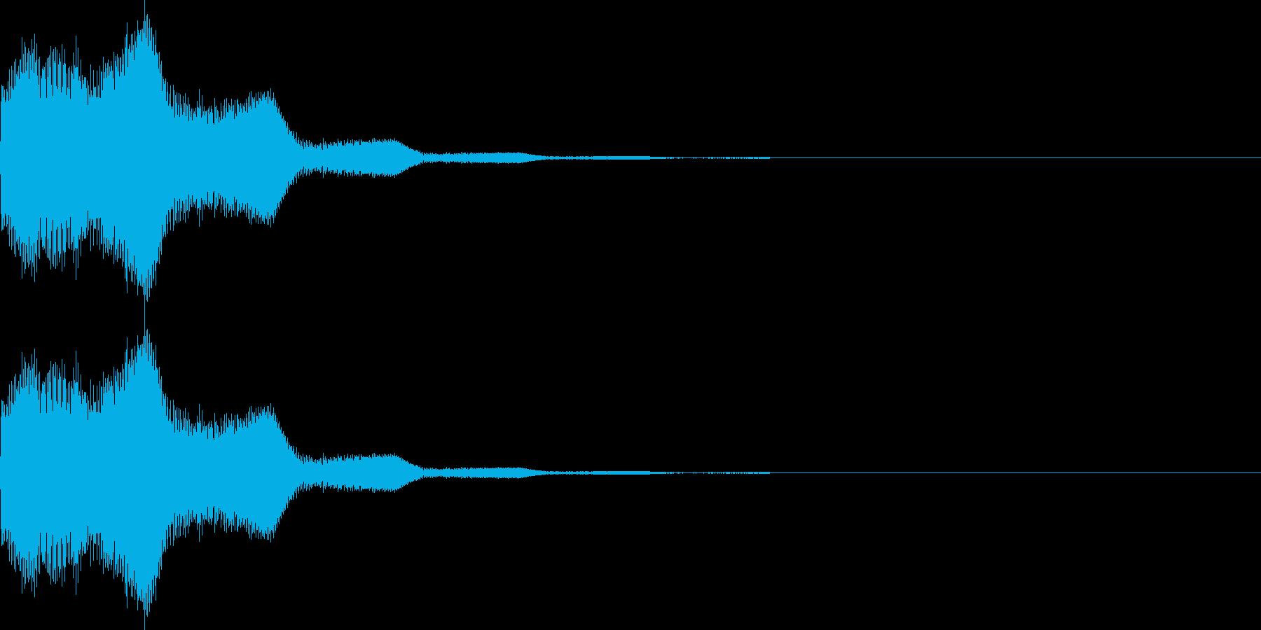 キラン(星、ボタン、決定、ボタン)の再生済みの波形