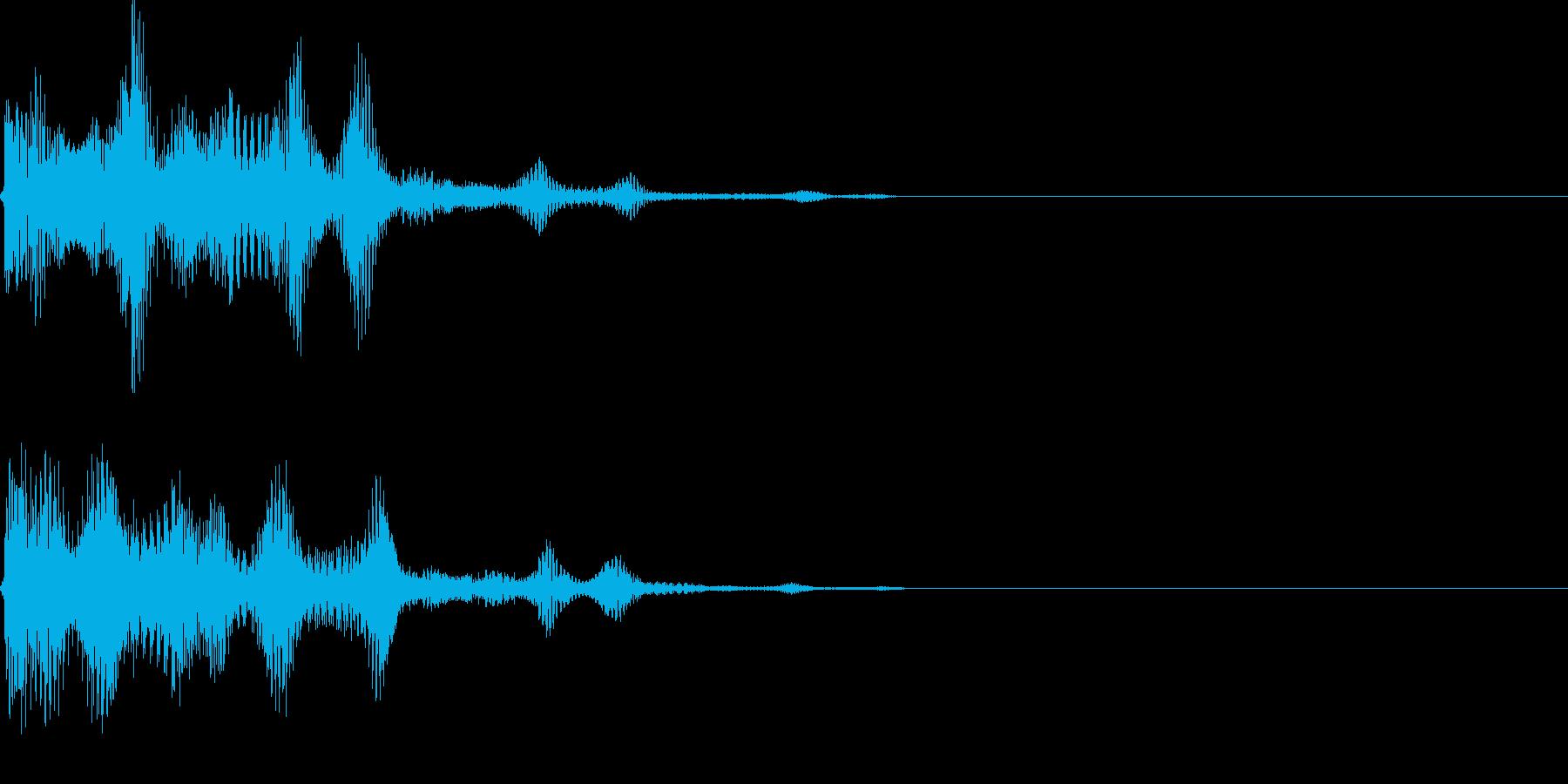 決定音31_シンセJの再生済みの波形