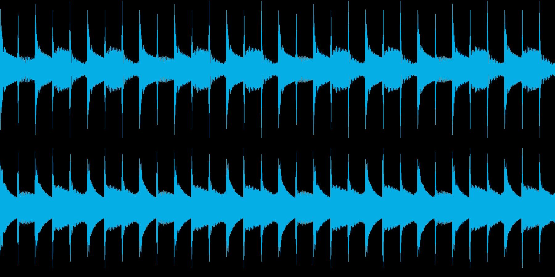 シンプル ベル 着信音 チャイム ループの再生済みの波形