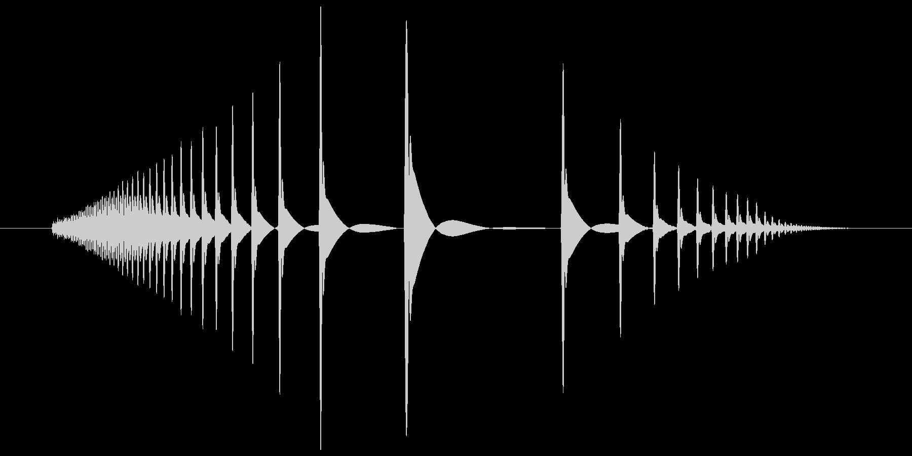 むぎゅ(ごむっぽい感じの摩擦感)の未再生の波形