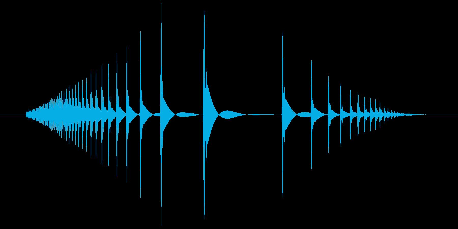 むぎゅ(ごむっぽい感じの摩擦感)の再生済みの波形