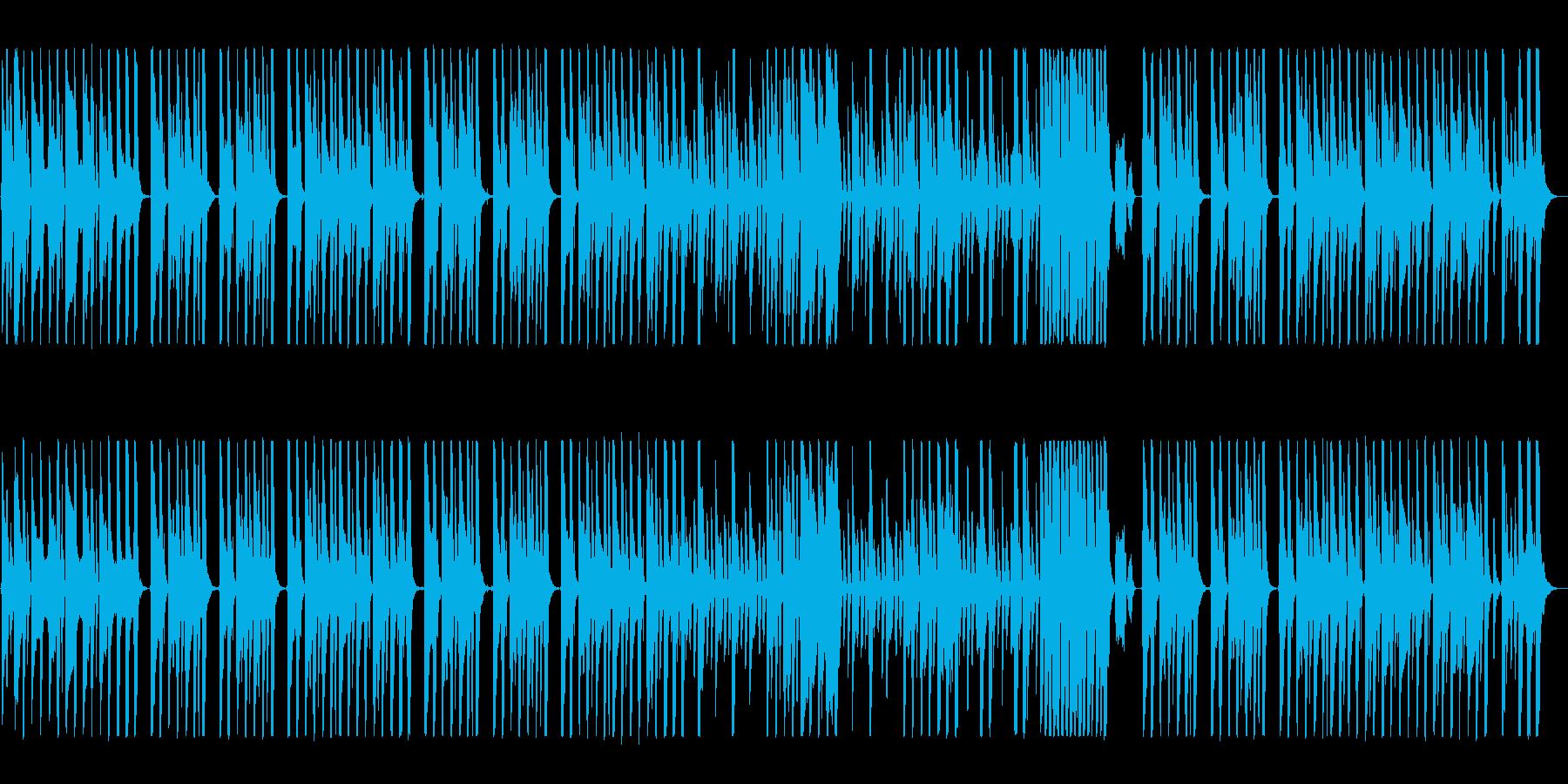 木琴混じりの明るい可愛いポップな曲の再生済みの波形