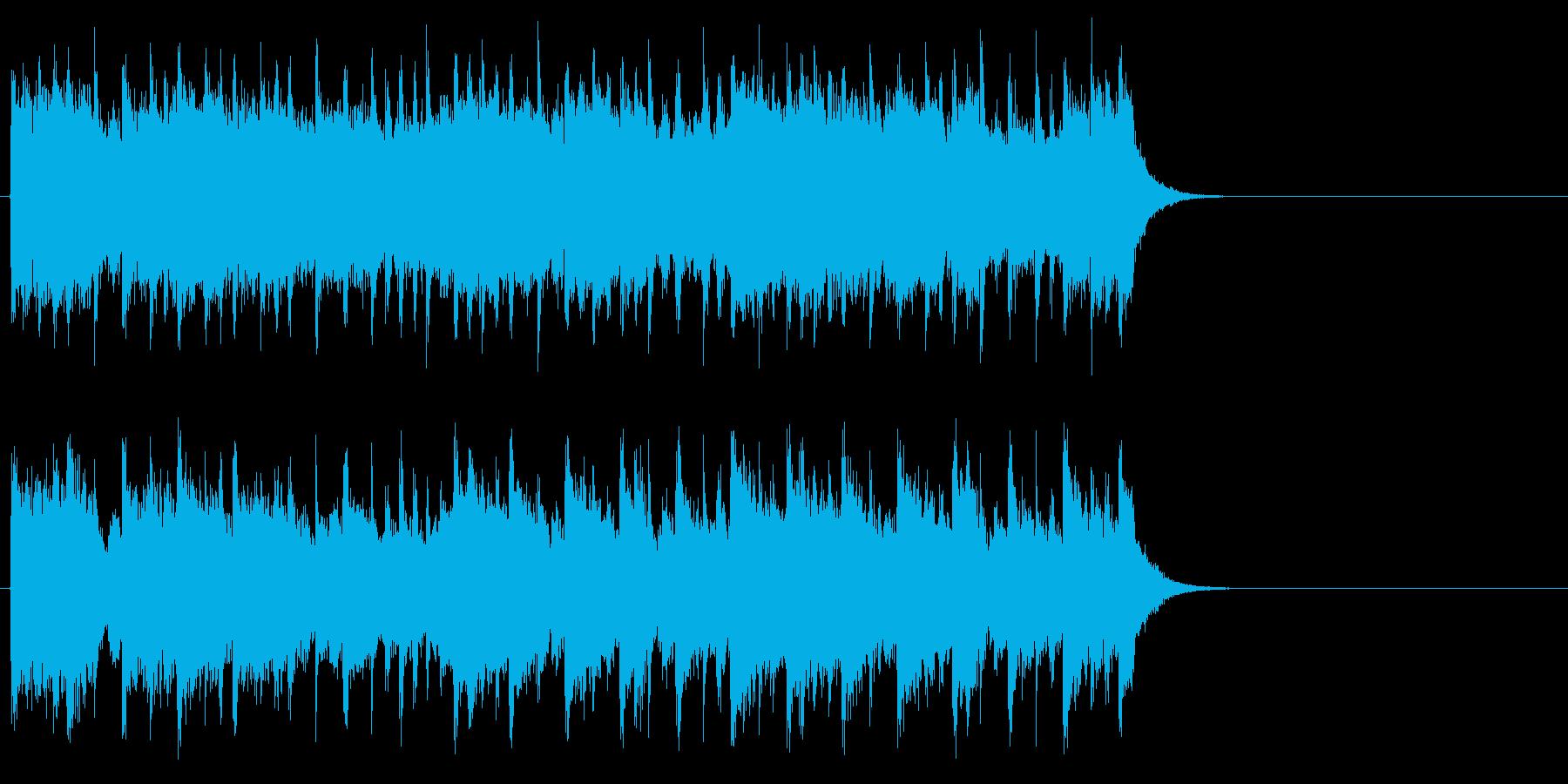 背中に哀愁漂うポップ(サビ)の再生済みの波形