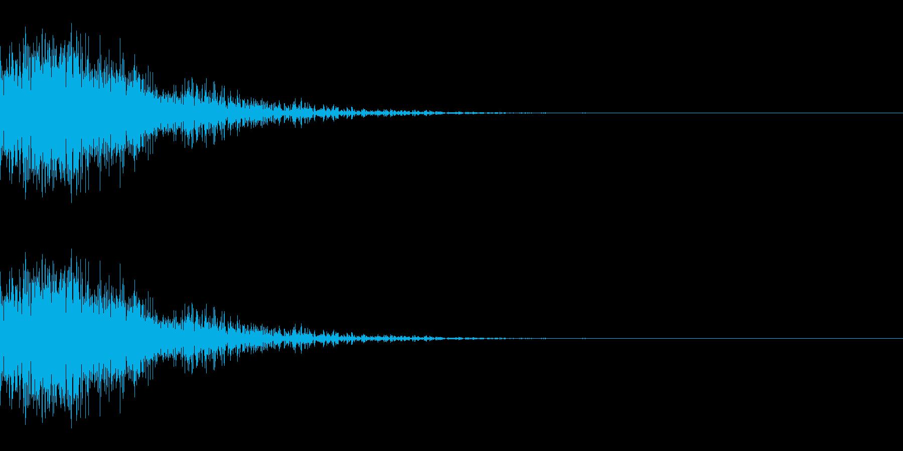 シャッ(ひっかく/小動物/小攻撃)の再生済みの波形