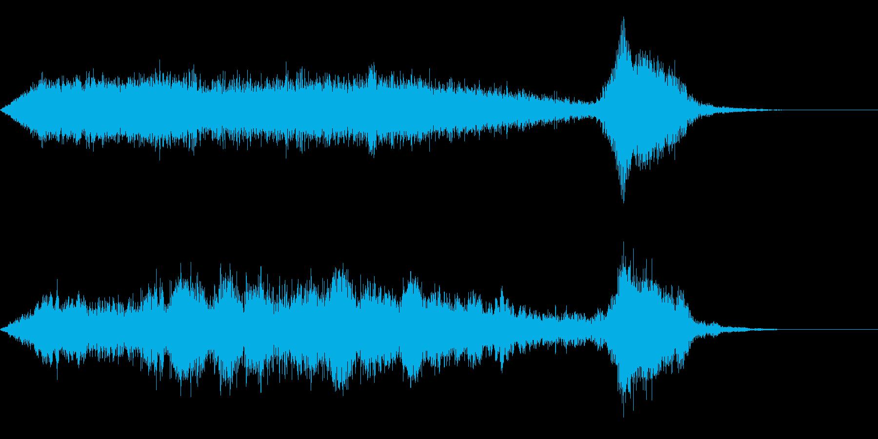 ワープ 宇宙的 未来的な効果音 04bの再生済みの波形