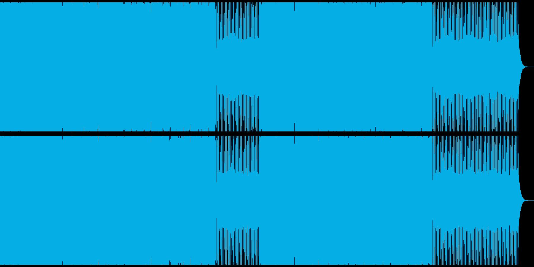 ダークな雰囲気のベースミュージックの再生済みの波形