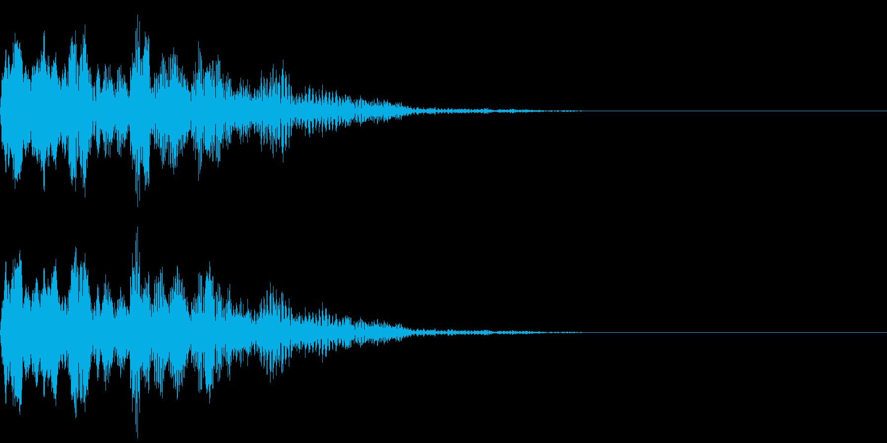 不思議な音の再生済みの波形