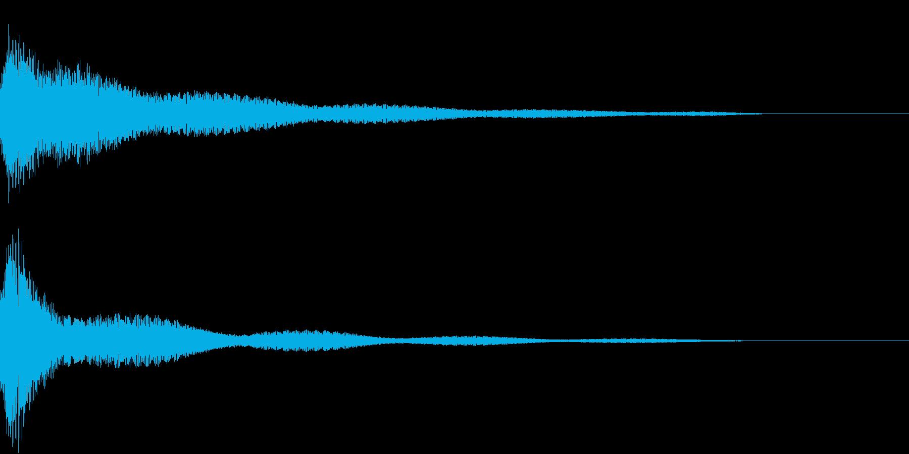 クリック キラリン 明るい 決定 09の再生済みの波形