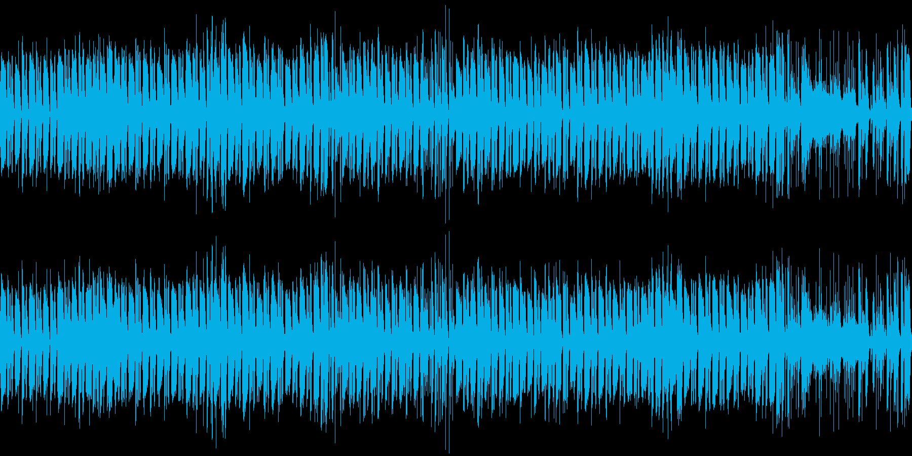 メニュー画面などに使える激しいファンクの再生済みの波形