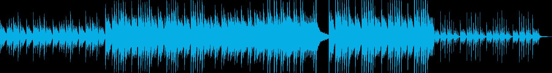 優しい雰囲気のピアノソロ曲の再生済みの波形