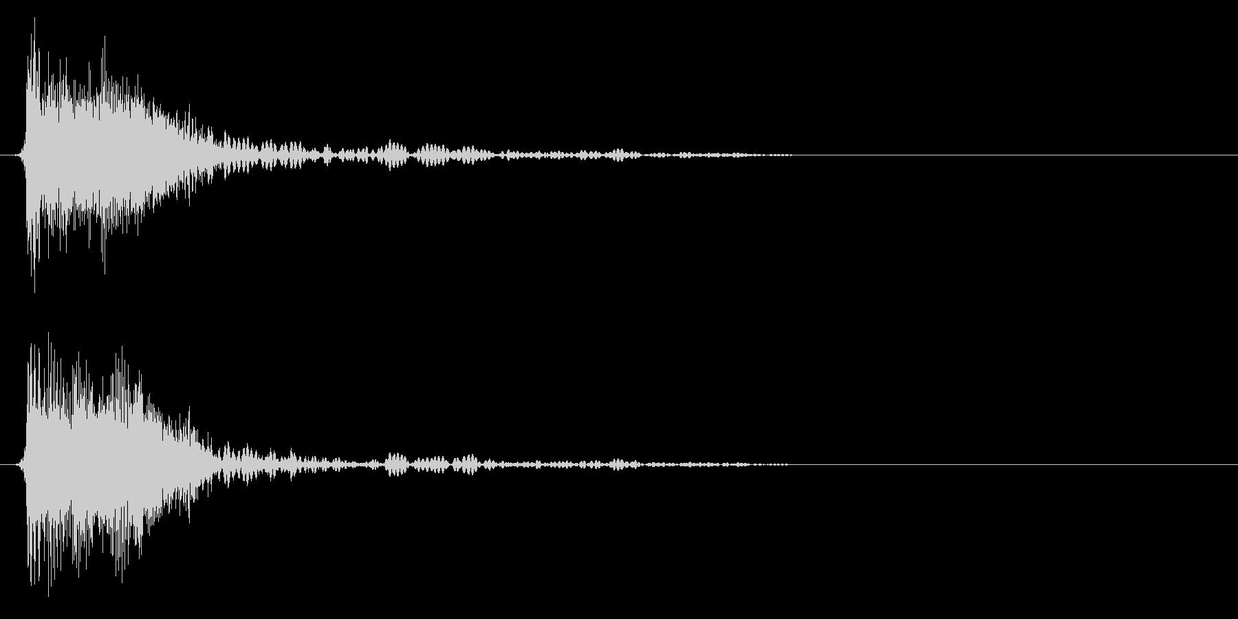 ジャン/クイズ/フリップボード/オケヒの未再生の波形