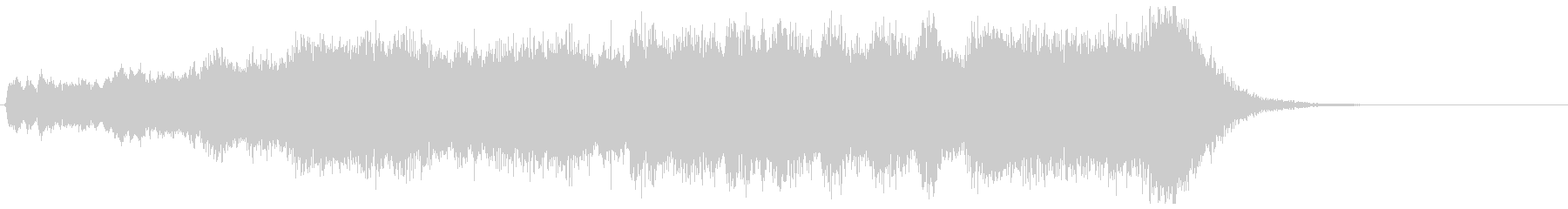 金管カノンが勇壮なフルオケジングル合唱付の未再生の波形