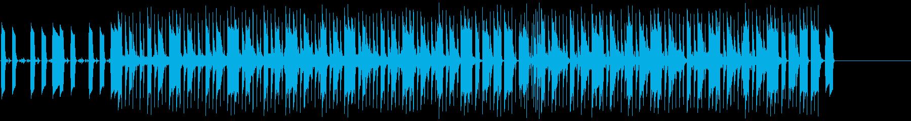 淡々として機械的な雰囲気のテクノの再生済みの波形