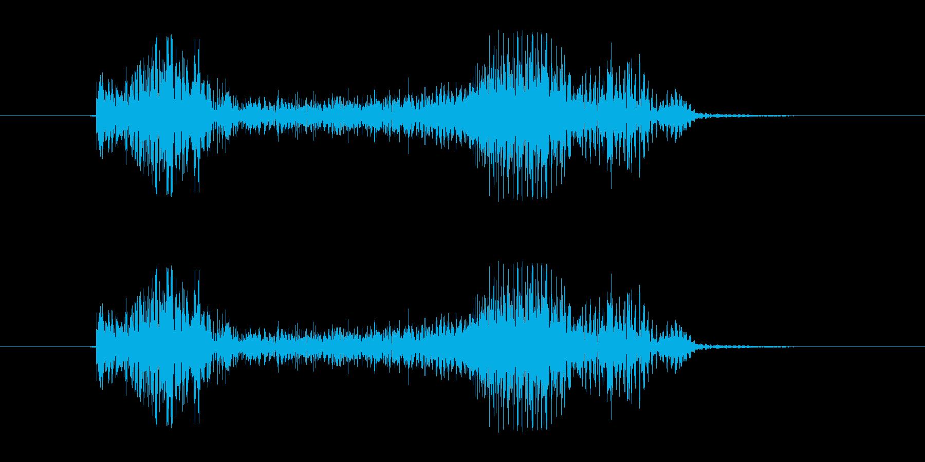 バシュバーン(矢が命中する音)の再生済みの波形