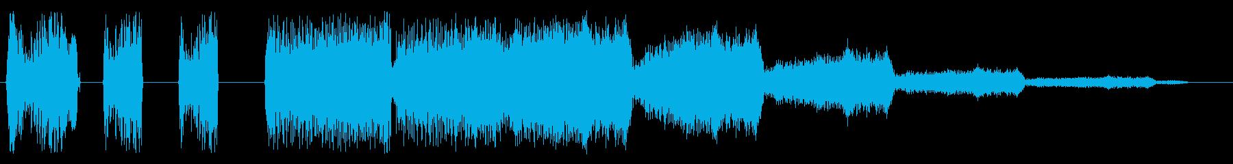 ピピピシュワンシュワンの再生済みの波形