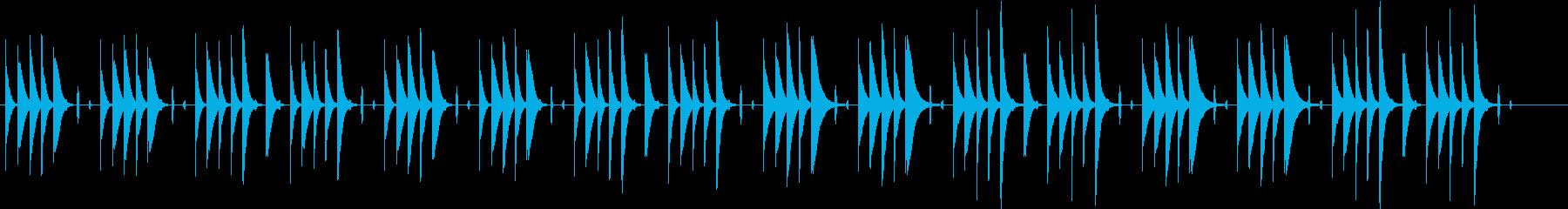 ほのぼのした場面や回想シーンに使える曲の再生済みの波形