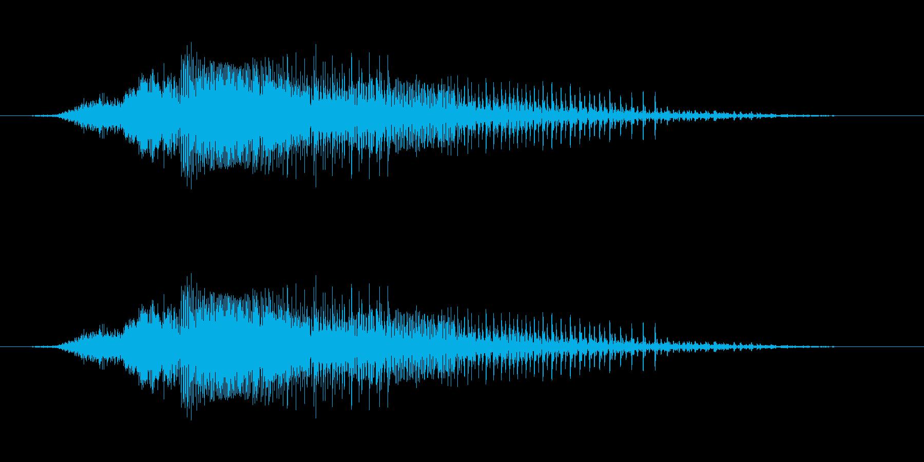 さぁー!! - 男性和風掛け声の再生済みの波形