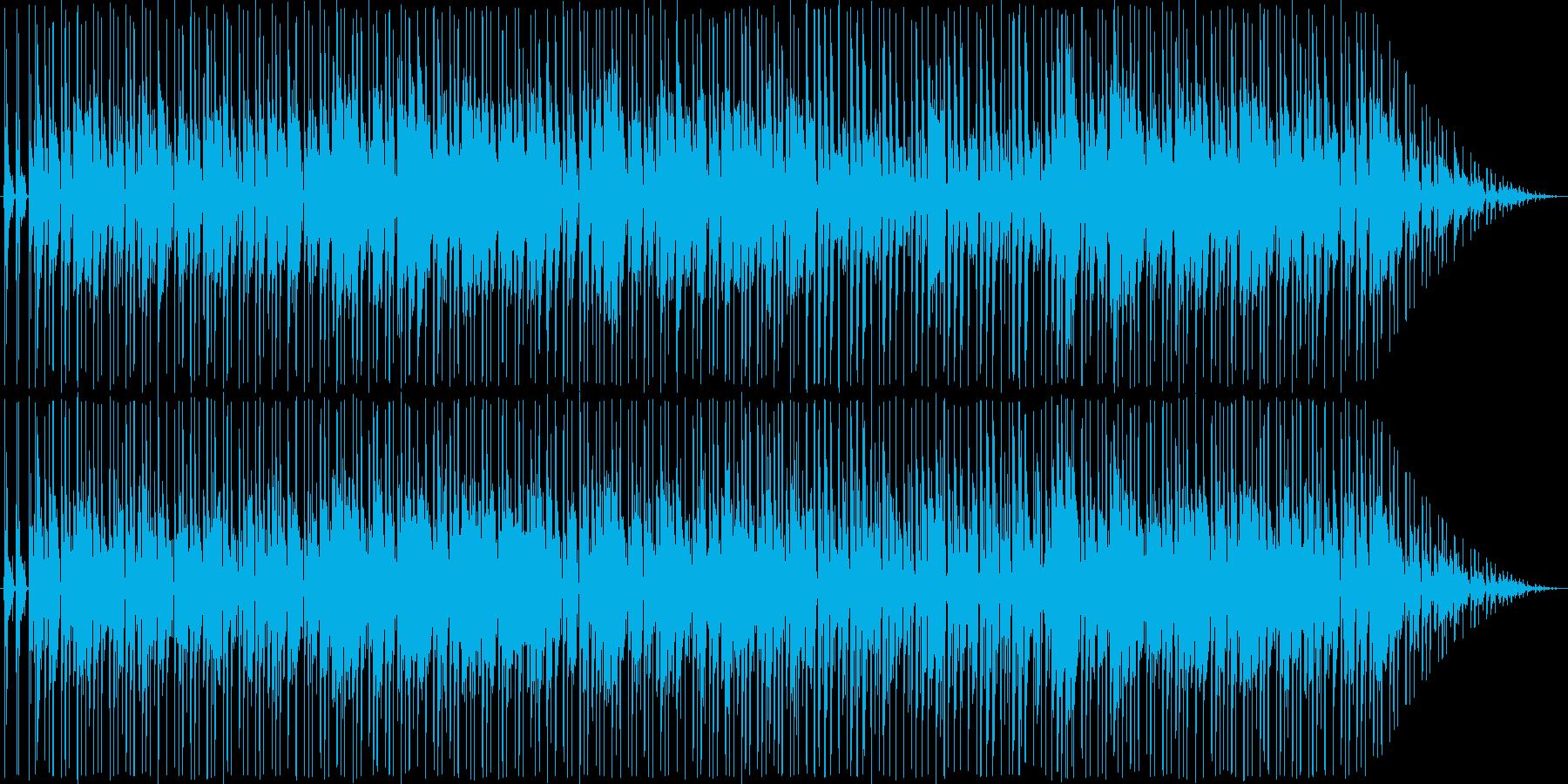 リズミカルなソウル風の日常系BGMの再生済みの波形