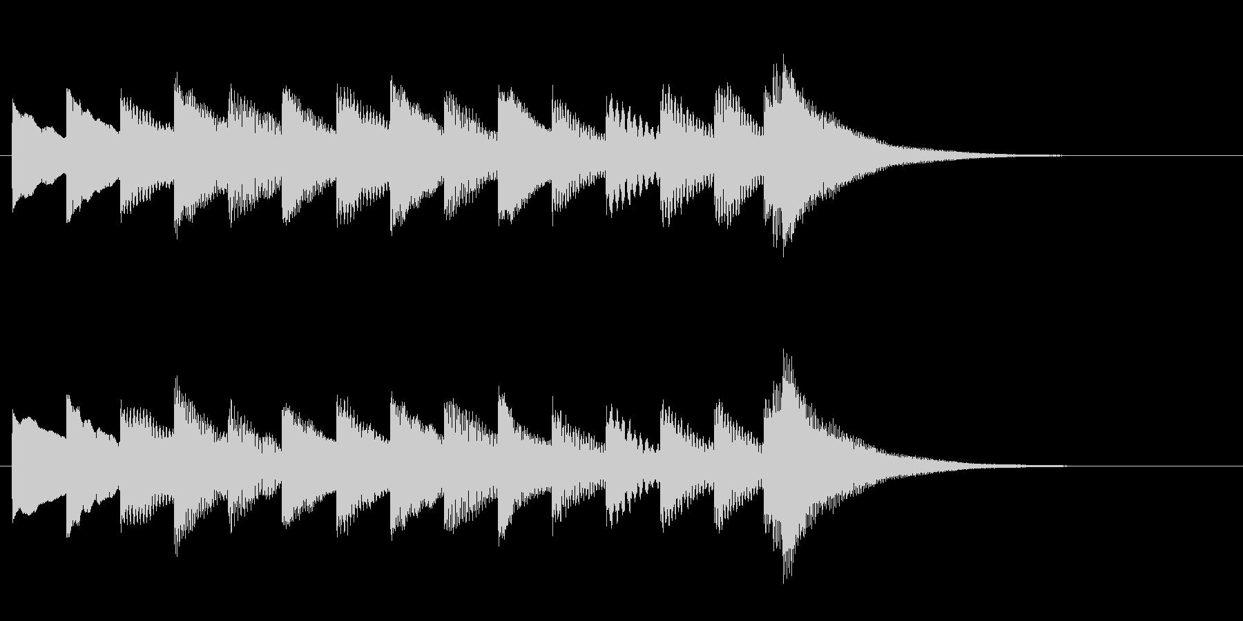 ほのぼのとした雰囲気のワンフレーズの未再生の波形