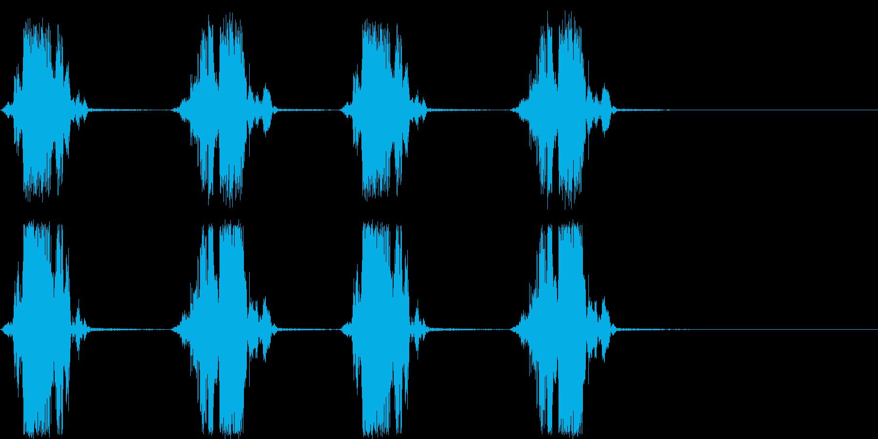 ザクザクザクザク 穴掘りの音の再生済みの波形