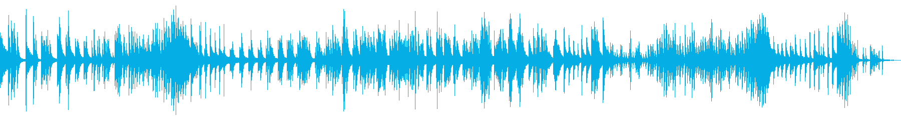 夜の音楽室から聞こえてくるピアノの再生済みの波形