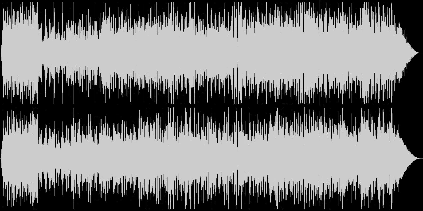 クリスマスの定番ウィンターワンダーランドの未再生の波形
