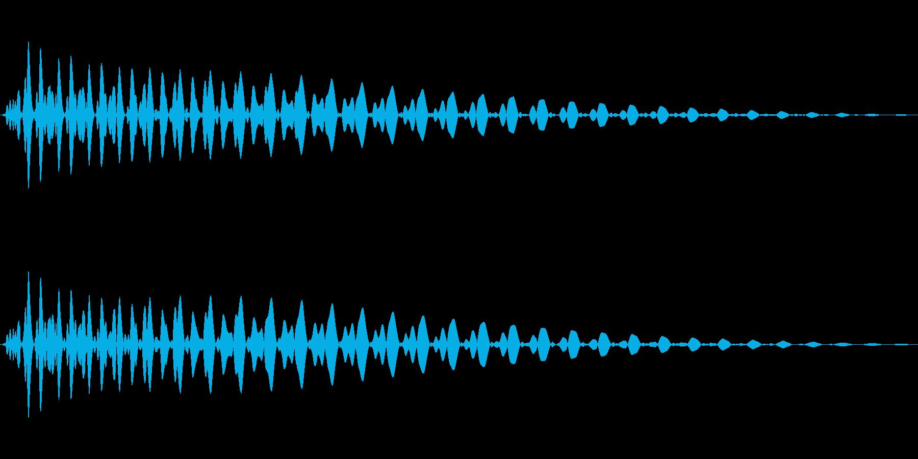 PureTouch アプリ用タッチ音72の再生済みの波形