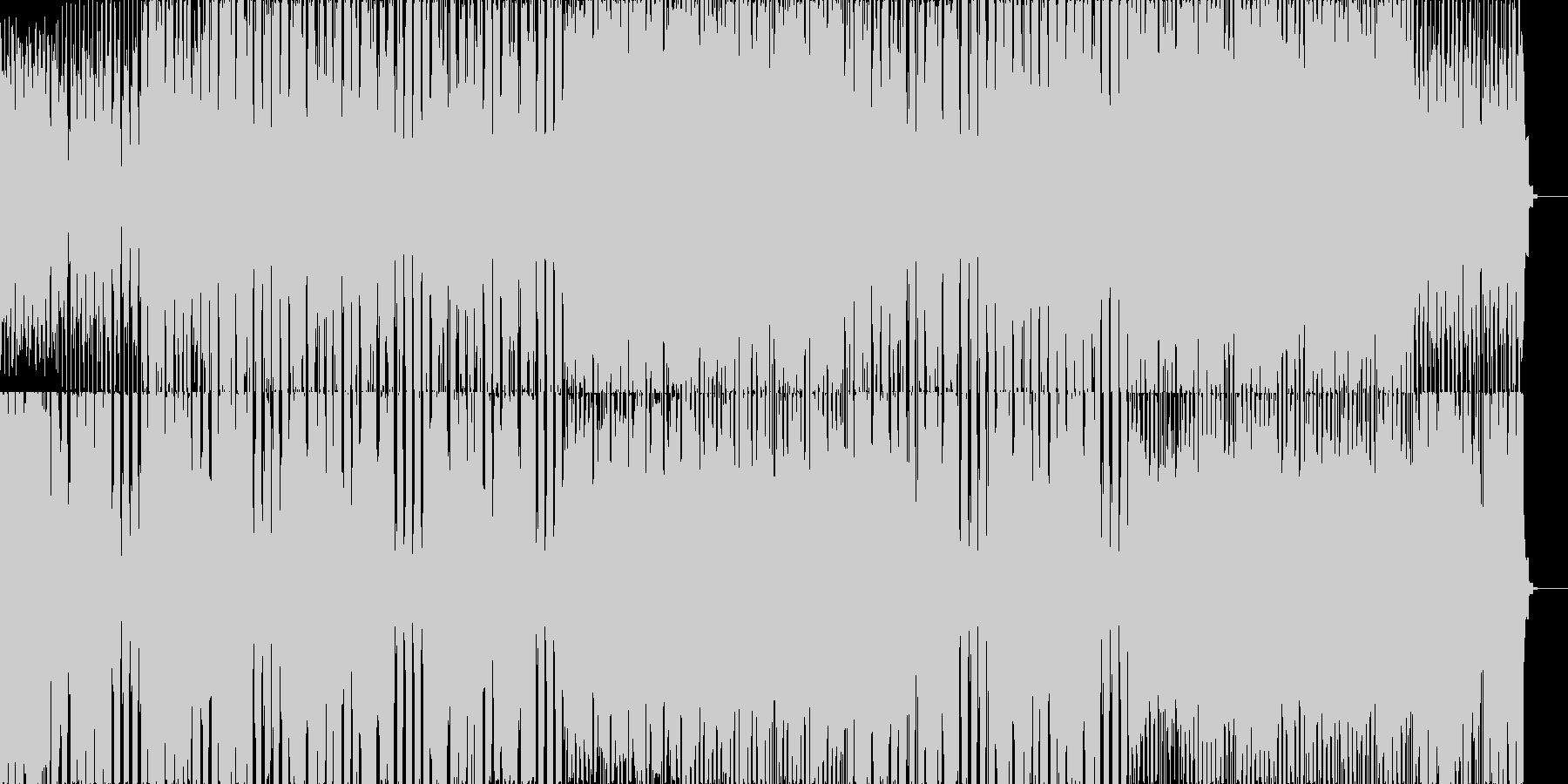 アコギとシンセとクラップ、軽快なリズムの未再生の波形