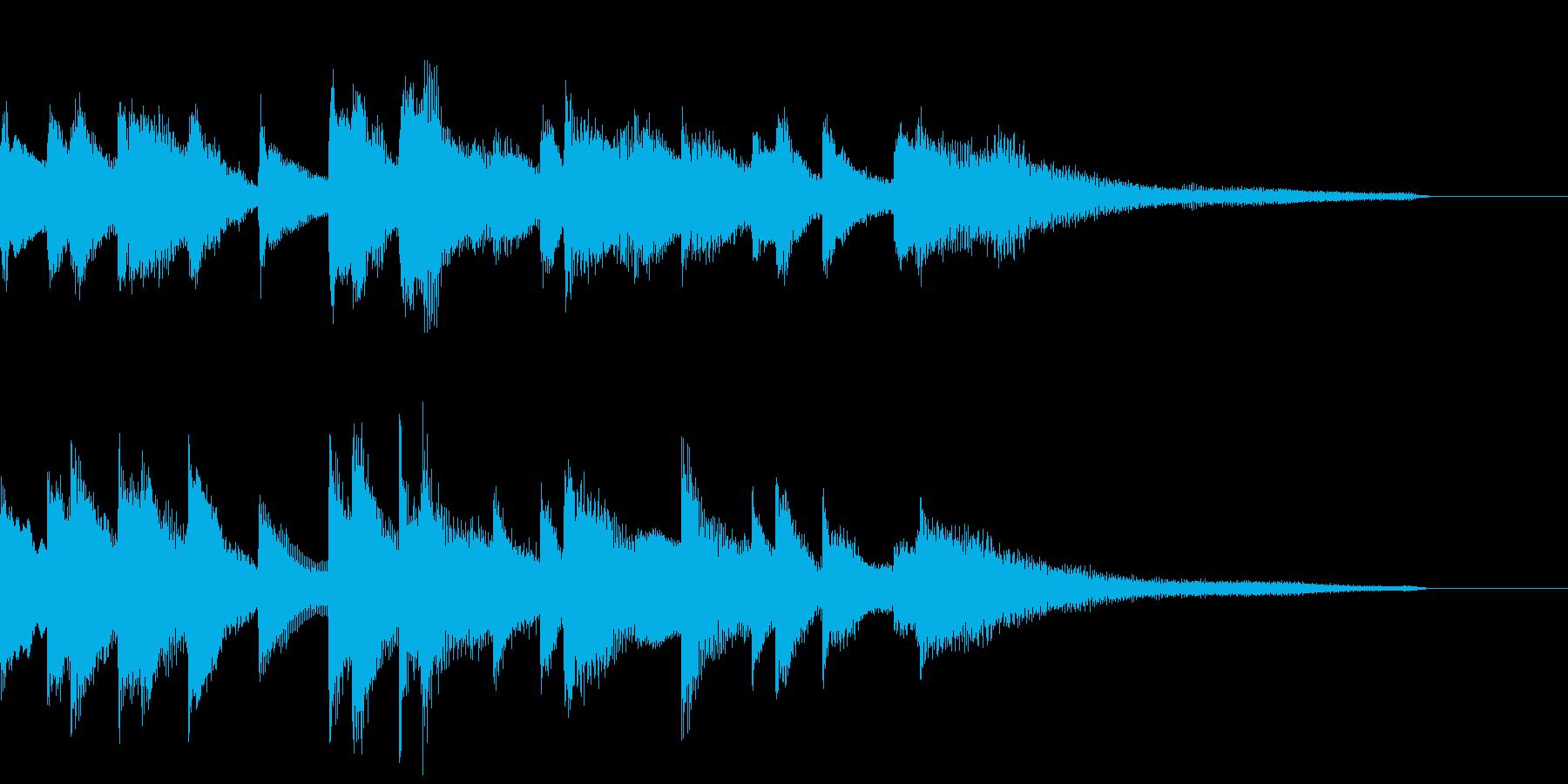 ハネたリズムのジングル ピアノソロの再生済みの波形