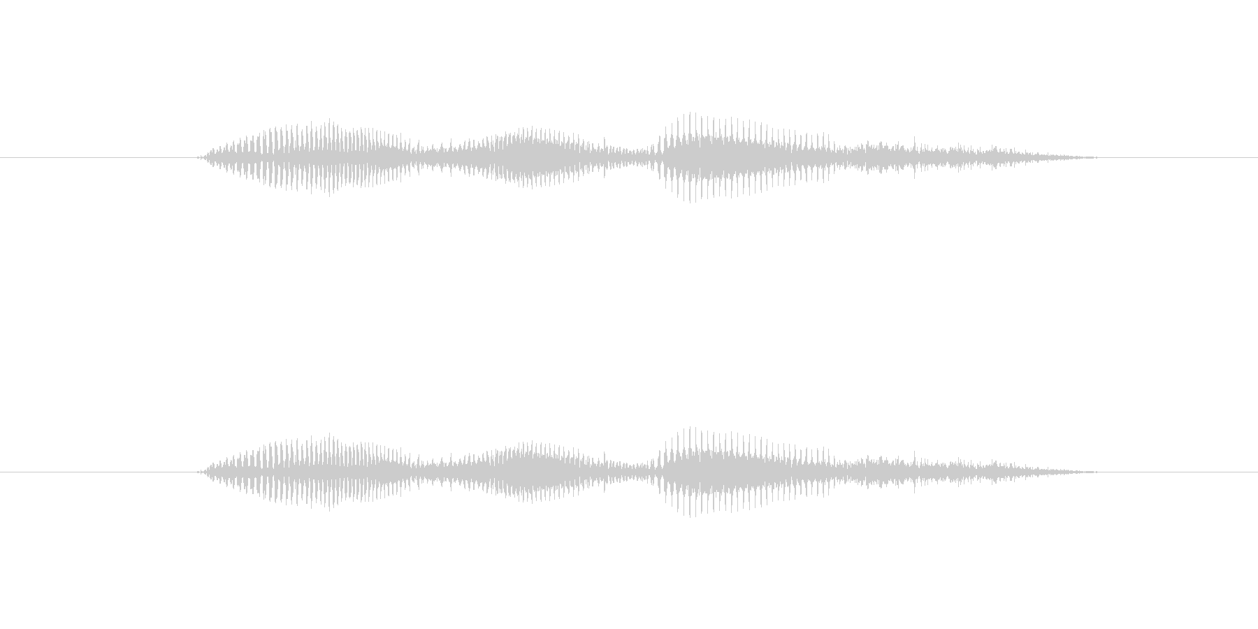 【時報・時間】2時ですの未再生の波形