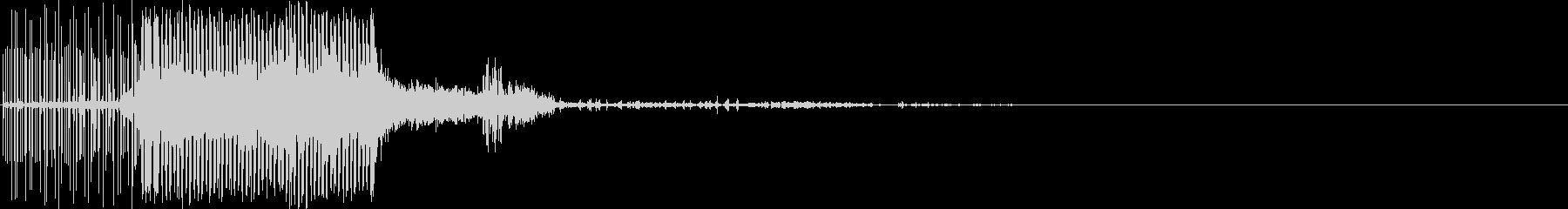 電気の音(雷の魔法・電撃)の未再生の波形