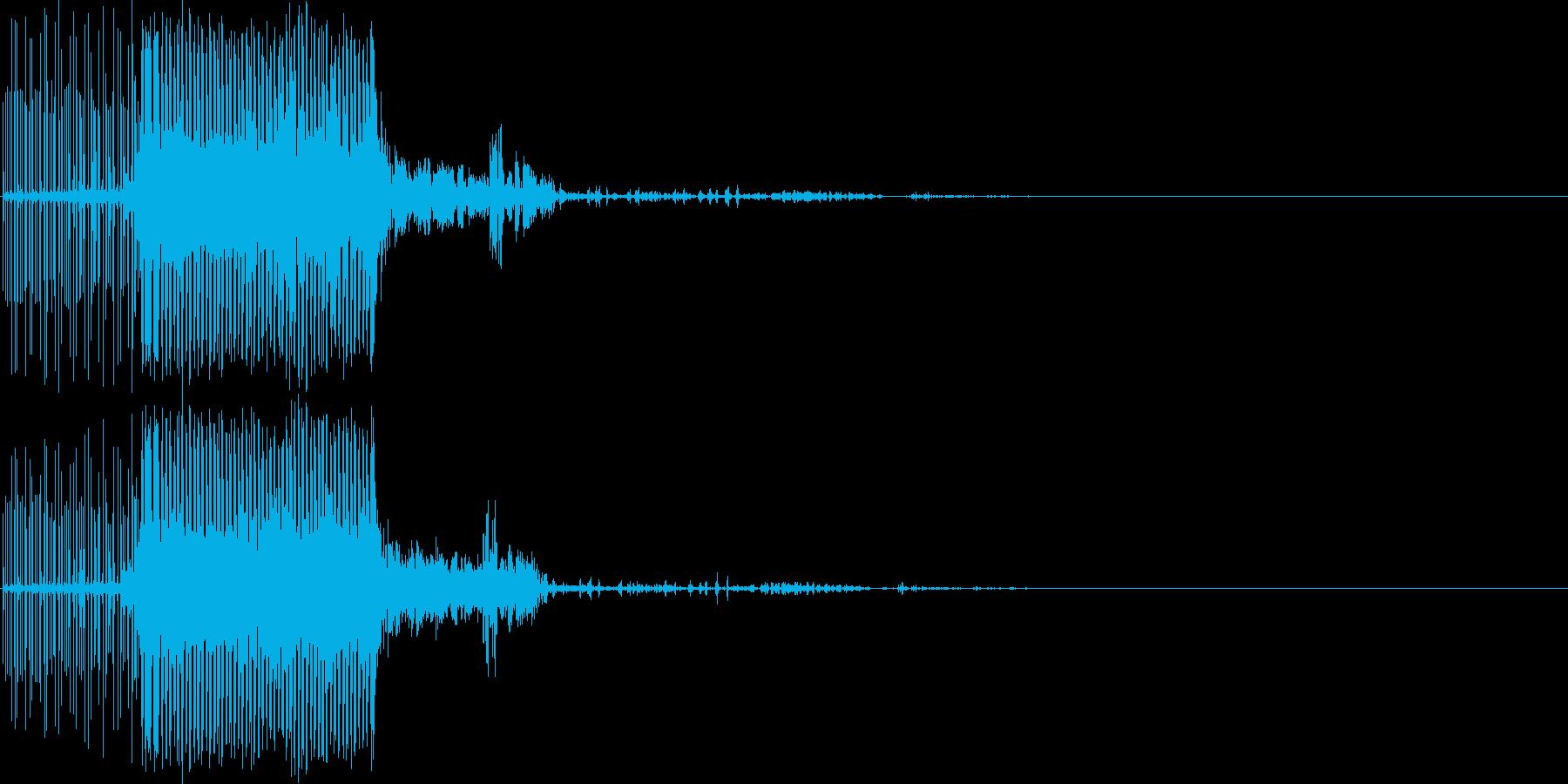 電気の音(雷の魔法・電撃)の再生済みの波形