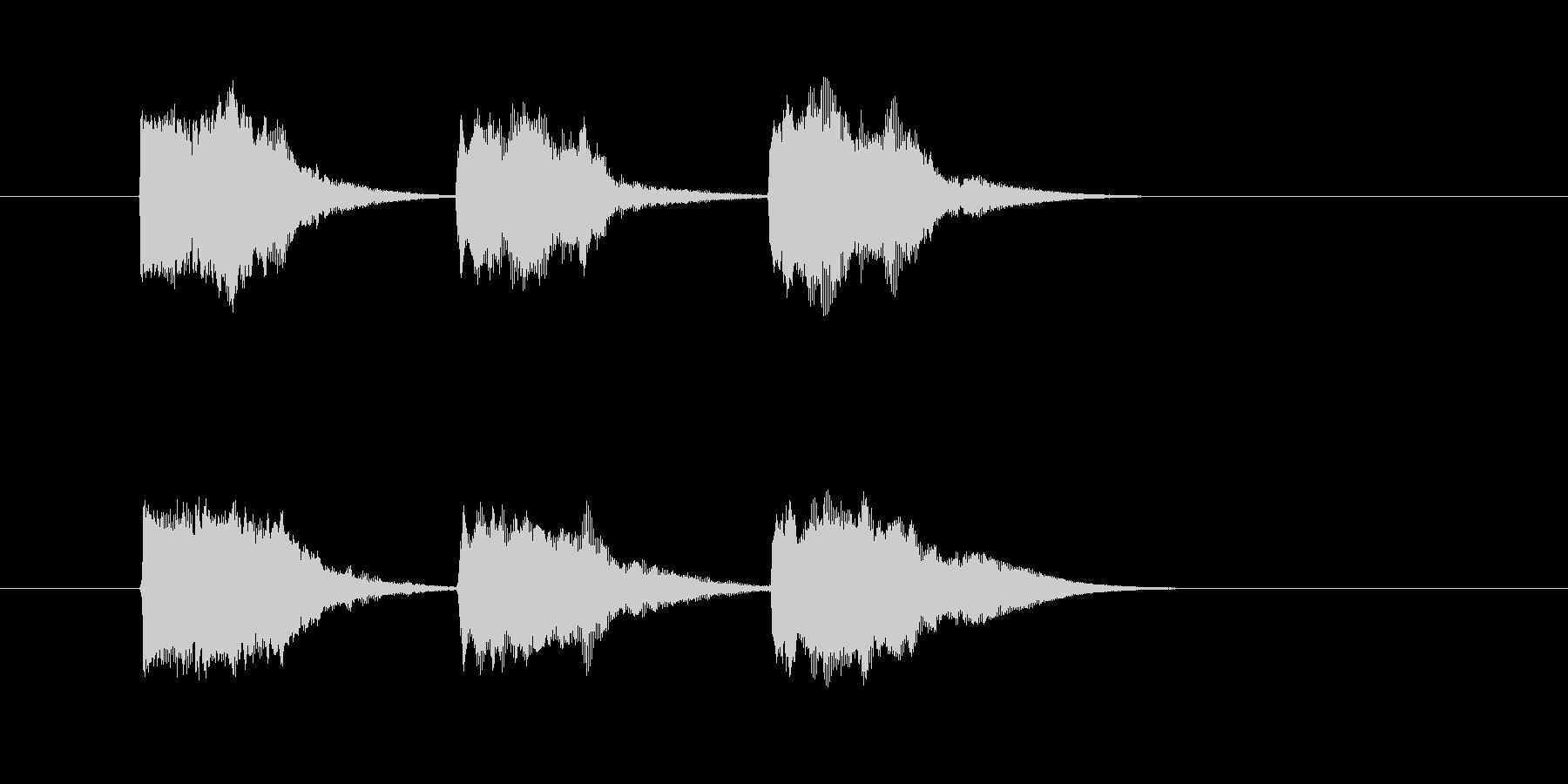 ゲーム等、開始前カウント(3-2-1)Cの未再生の波形