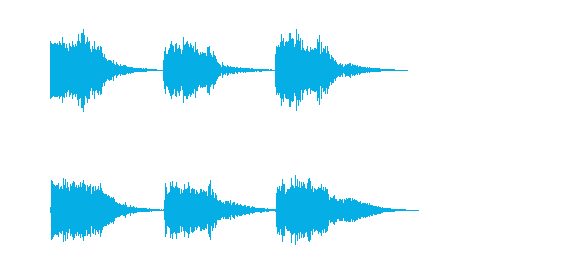 ゲーム等、開始前カウント(3-2-1)Cの再生済みの波形