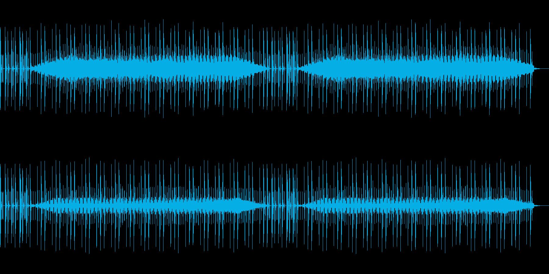 ニュースなどに使えるドラム主体のBGMの再生済みの波形