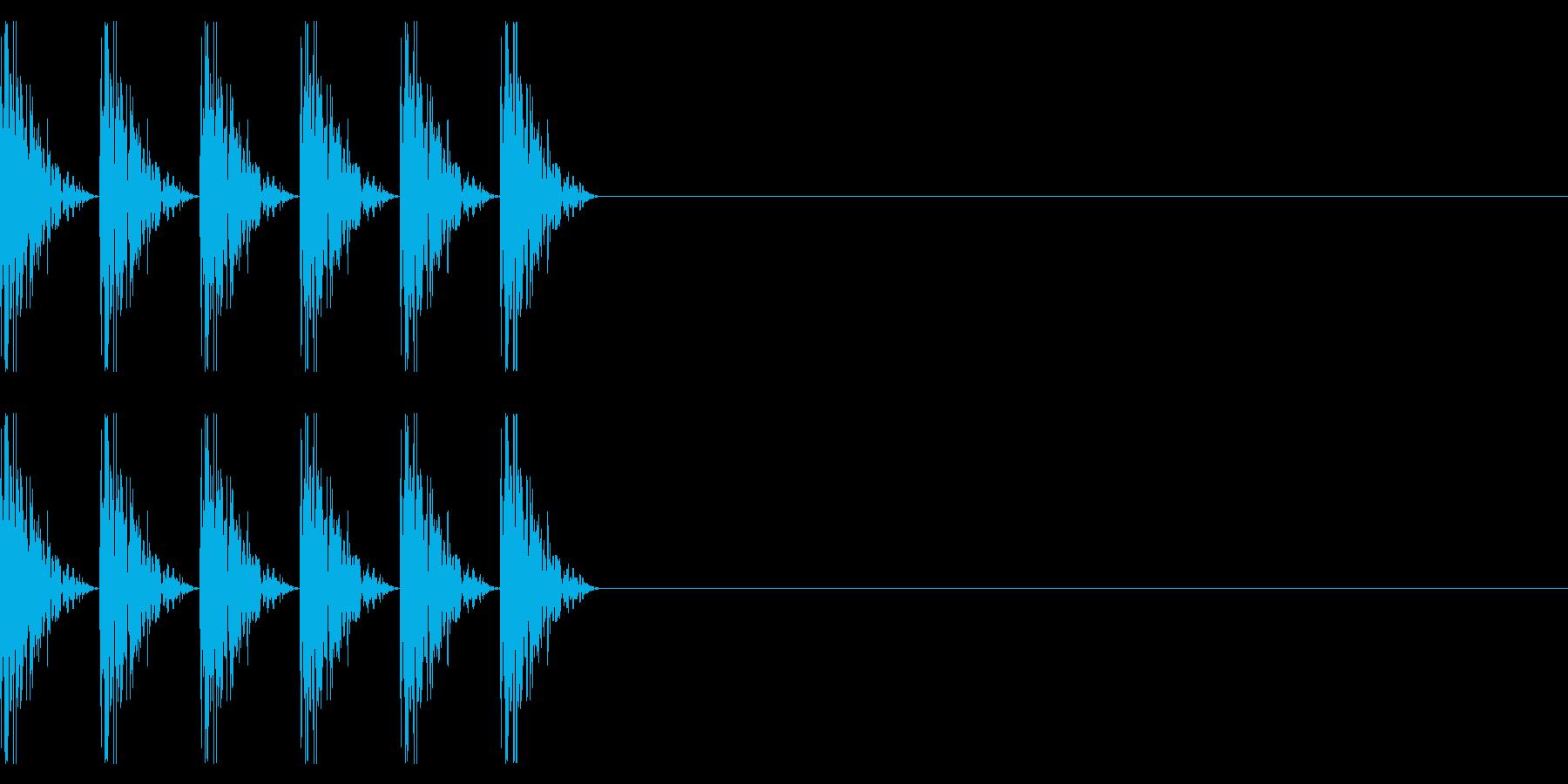 ダダダダッ!マシンガンの発砲音の再生済みの波形