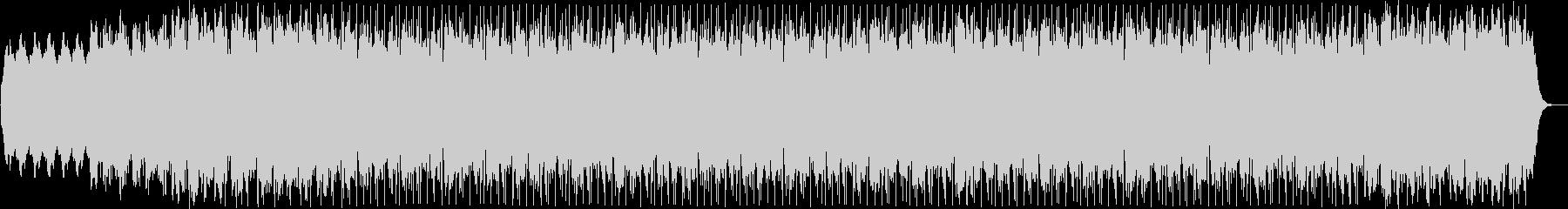 美しいループのシリアスなテクノ音の未再生の波形