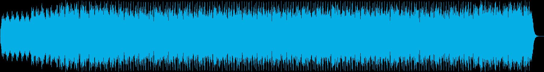 美しいループのシリアスなテクノ音の再生済みの波形