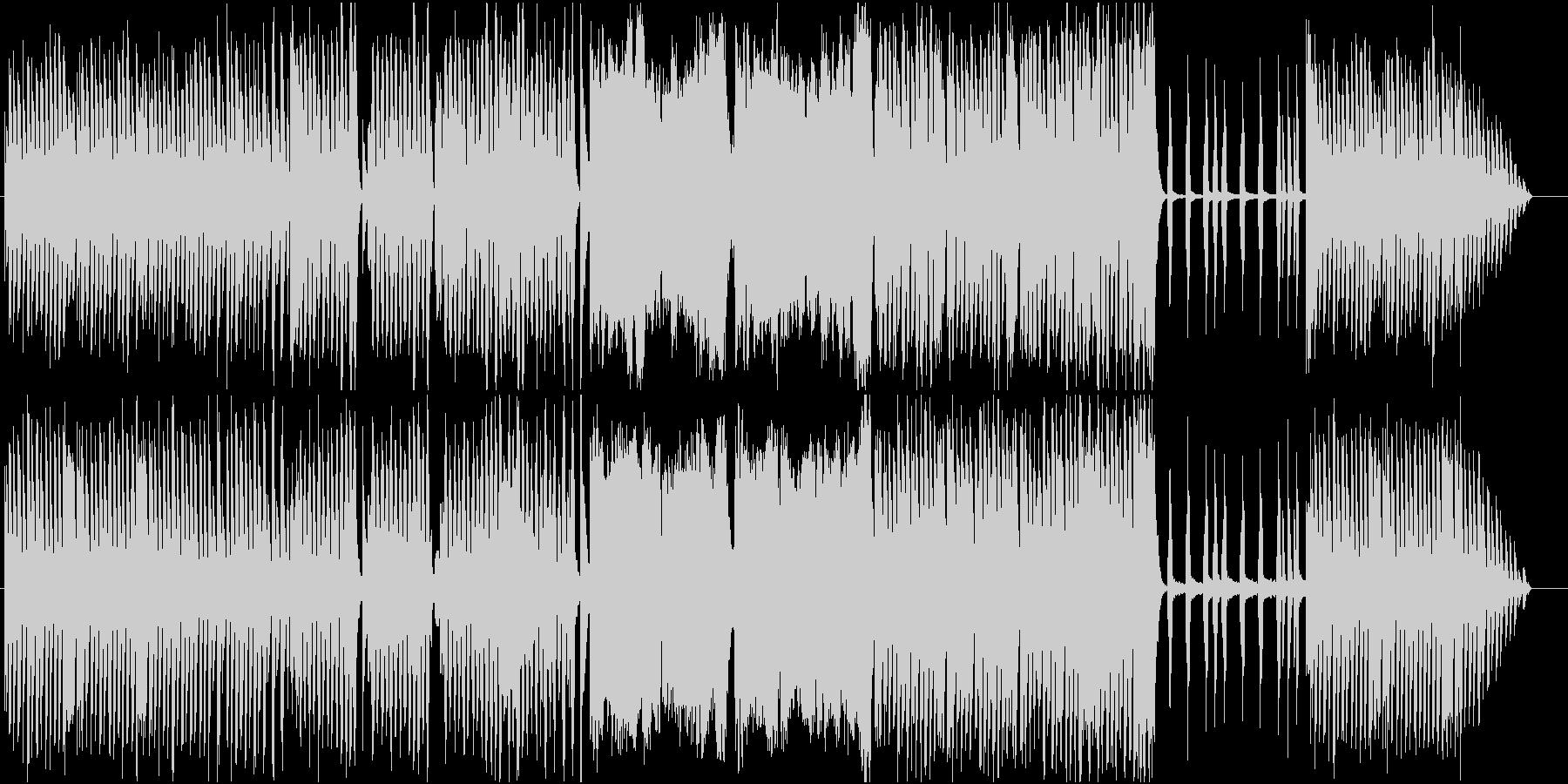 小動物が軽快に走っているイメージの曲の未再生の波形