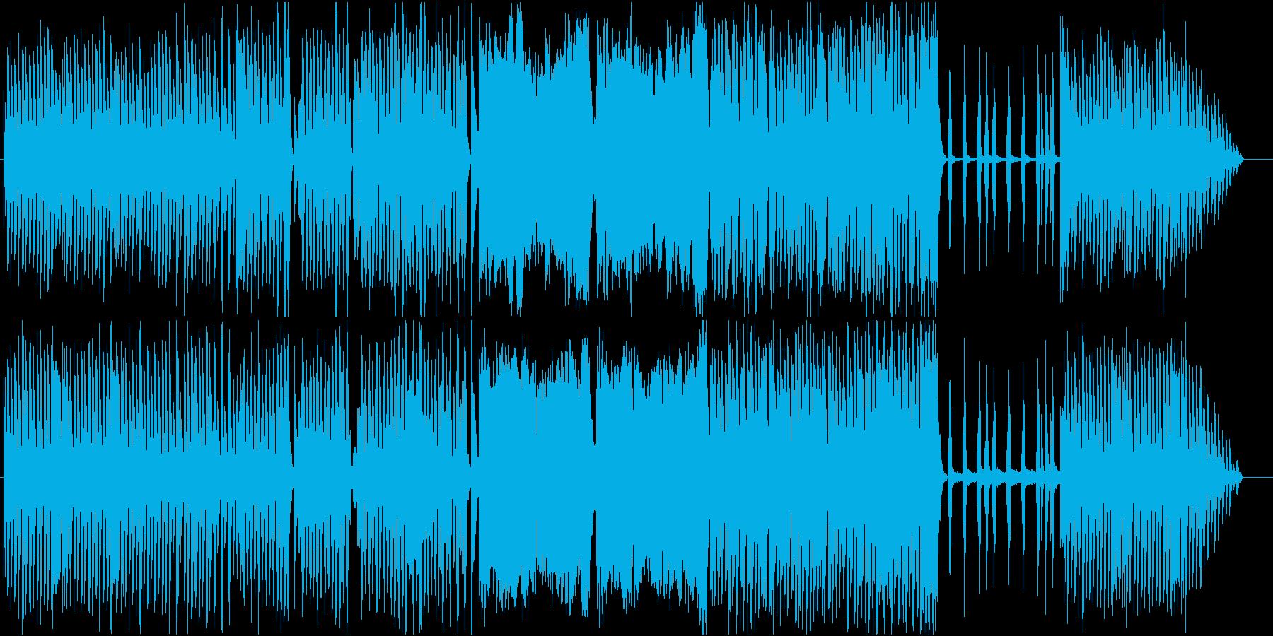 小動物が軽快に走っているイメージの曲の再生済みの波形