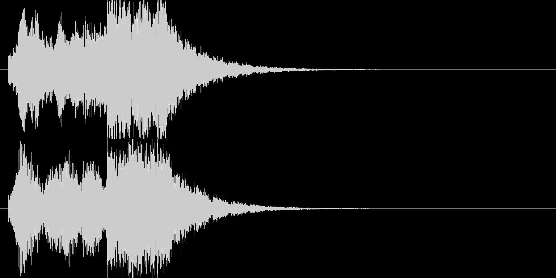 企業向けサウンドロゴ、ジングルの未再生の波形