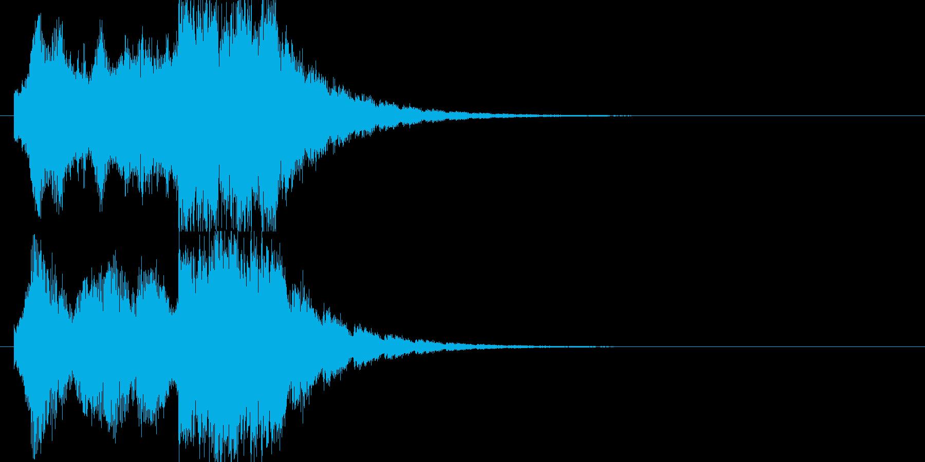 企業向けサウンドロゴ、ジングルの再生済みの波形