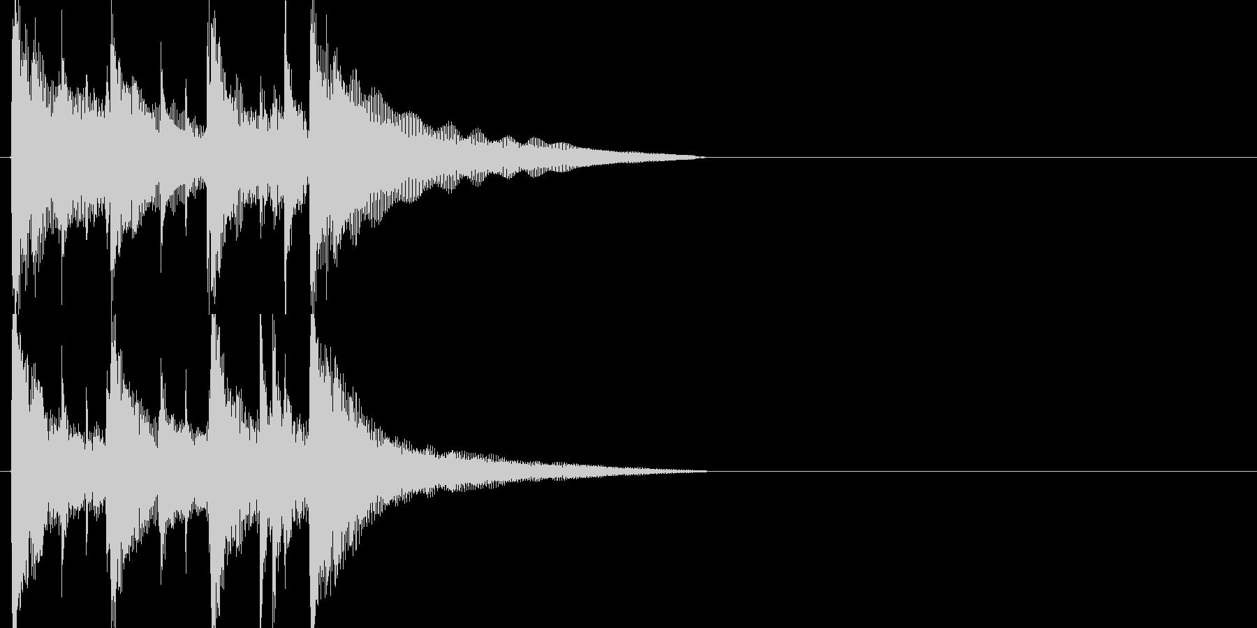 ジャズ、フュージョンジングルの未再生の波形