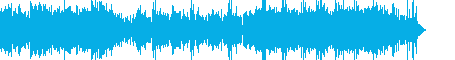 シンプルなアイドル系インストの再生済みの波形