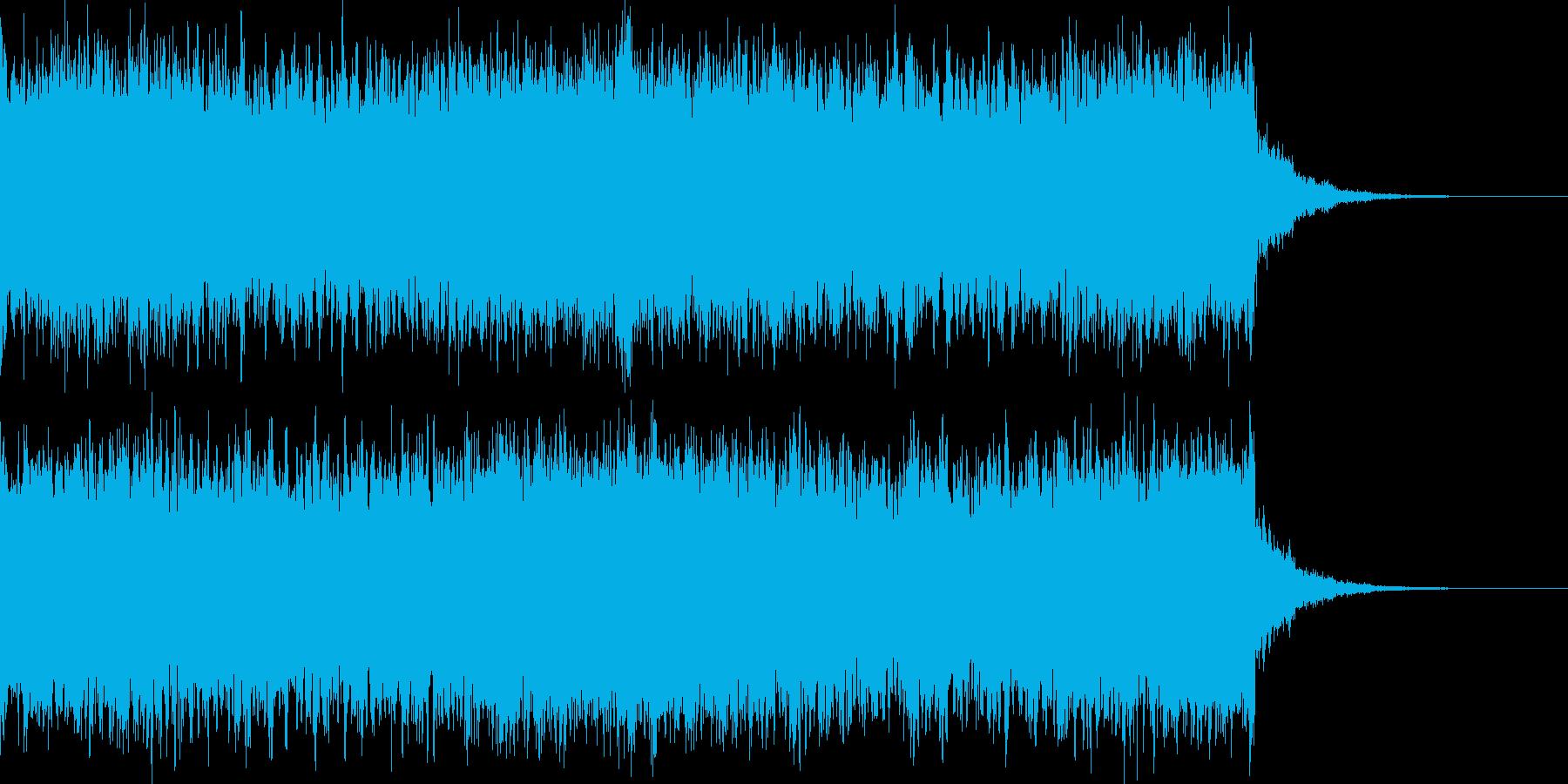 サイレンの音の再生済みの波形