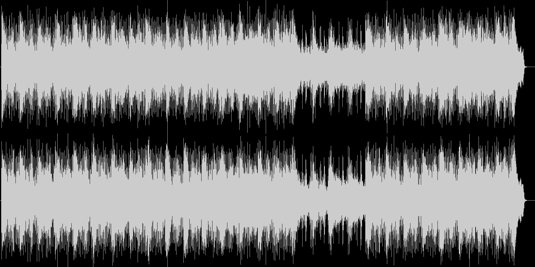スピード感あるエレリトリックポップスの未再生の波形